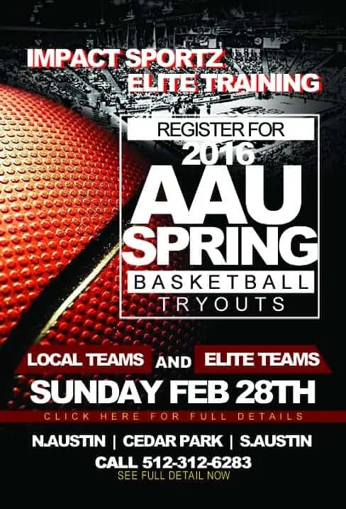 Austin and Cedar Park AAU winter basketball tryouts