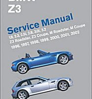 BENTLEY REPAIR MANUAL BMW Z3 ROADSTER 1996-2002