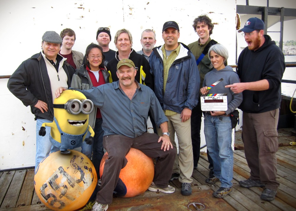Crew shot with minion