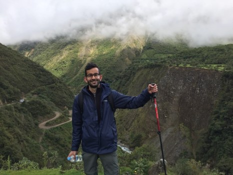 Imran Saleh hiking in Machu Pichu, November 2015