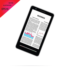 smartphone with business article