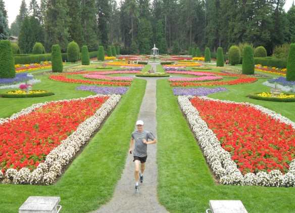 Duncan Gardens at Manito Park in Spokane, Washington. The pollen gives you a runner's high.