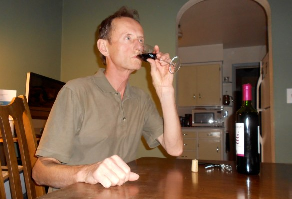 Jim tasting wine