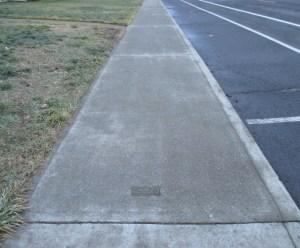 undamaged sidewalk