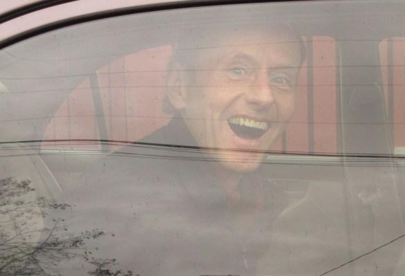 In the police car