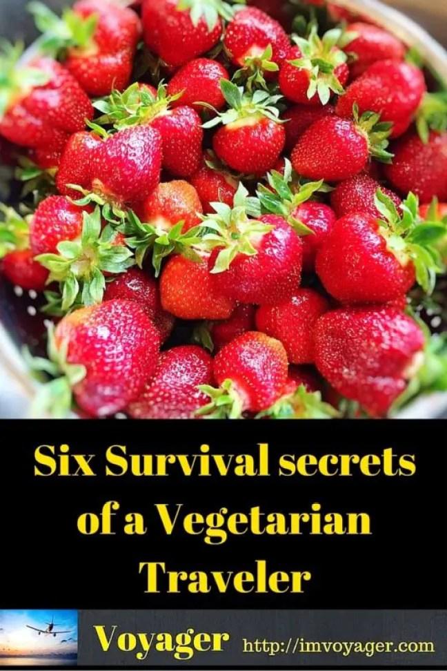 6 Survival secrets of a Vegetarian Traveler