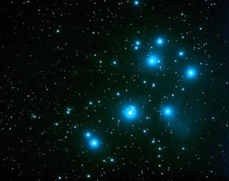The descent of the Hopi from the Blue Star of a constellation called the Seven Sisters (Pleiades)