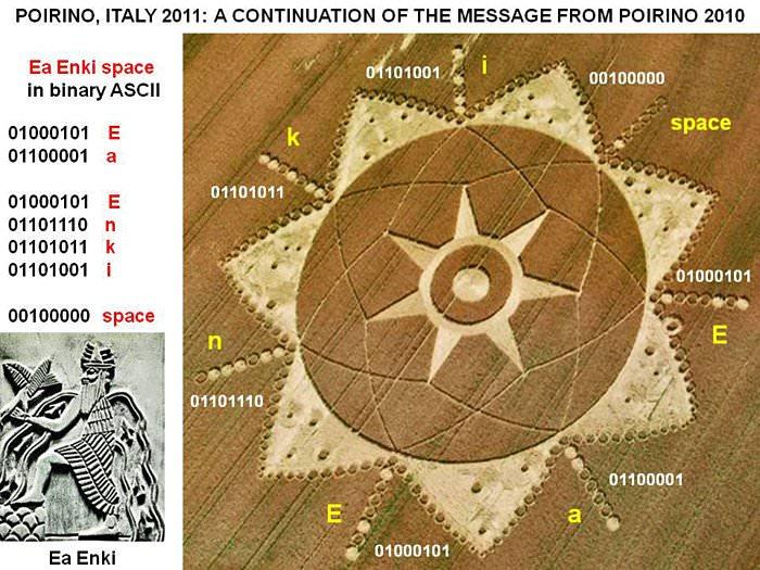 Anunnaki Message? The Crop Circle Ea Enki, Nibiru and Marduk in5d in 5d 2012