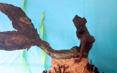 Chocolate Mermaid Cake Sculpture