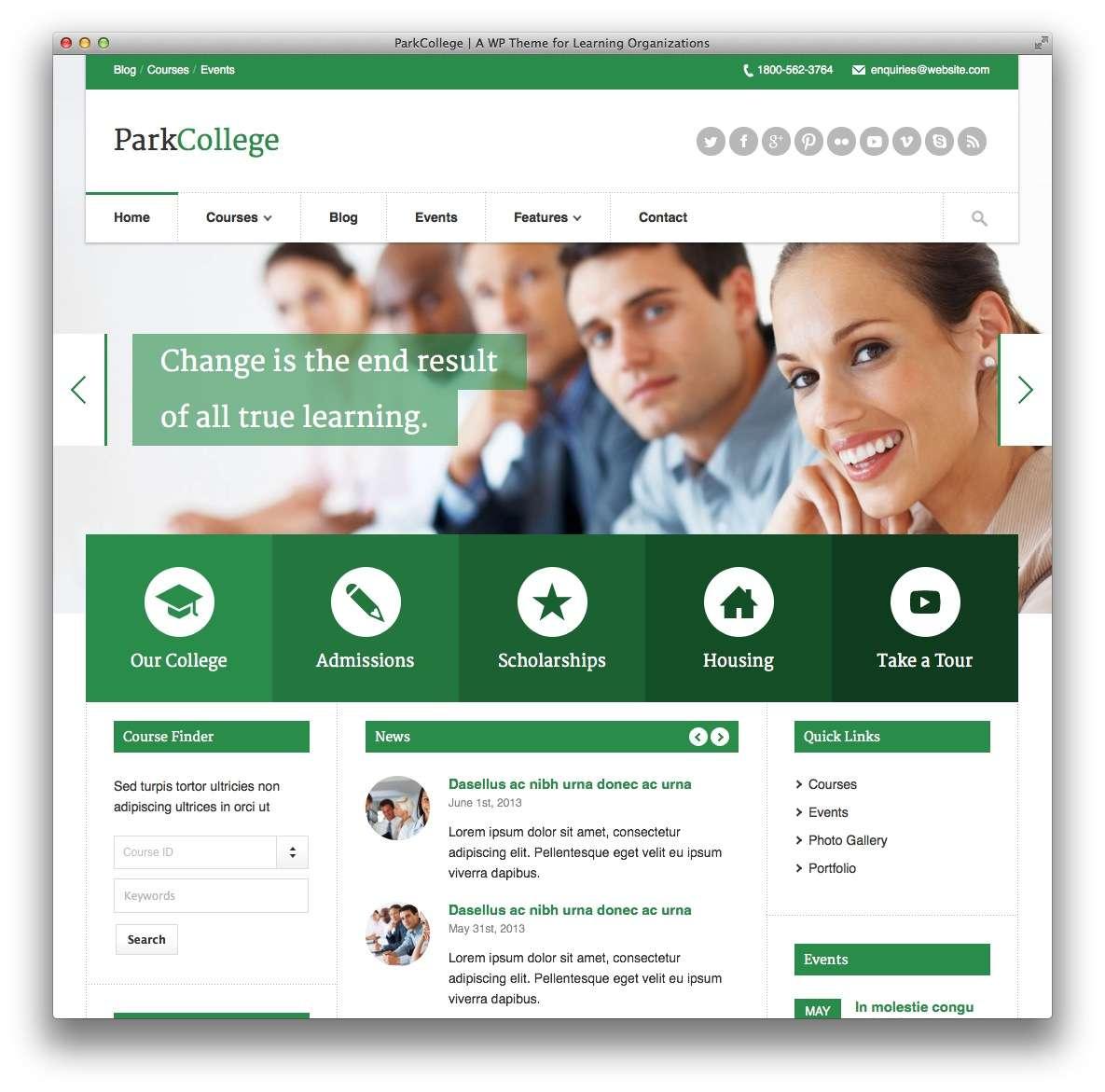 Создать сайт онлайн курсов