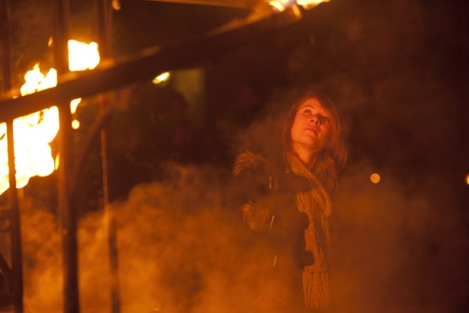SPIRIT, Compagnie Carabosse, LUMIERE 2011, produced by Artichoke in Durham. Photo Matthew Andrews Fire alchemists Compagnie Carabosse recall Durham's medieval and industrial past with their haunting and magical fire installation inside and around Durham Cathedral.