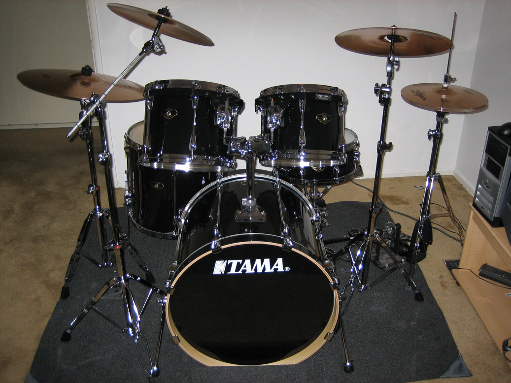 my tama drum set before i converted it