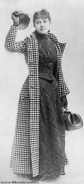 Nellie Bly and her famous travelling coat