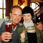 couple at Hofbrauhaus with beer