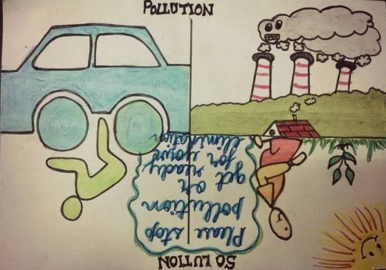 A poster made by Anoushka Antony, a student at The Shri Ram School, Aravali, in support of the Save R Lungs campaign