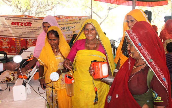 Women in Rajasthan's villages are increasingly using solar producrs. (Photo by Frontier Markets)