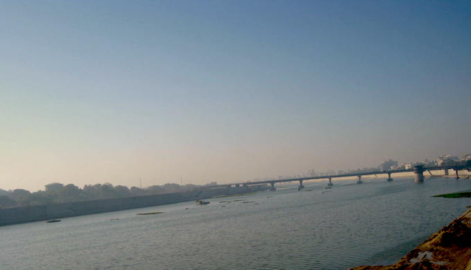 The rejuvenated Sabarmati in Ahmedabad. (Photo by Soumya Sarkar)