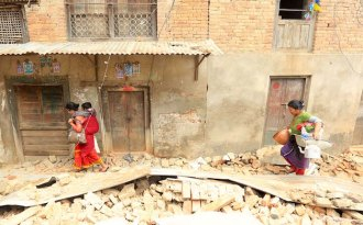 The Nepal earthquake of 2015 has been linked to climate change. (Photo by Laxmi Prasad Ngakhusi)