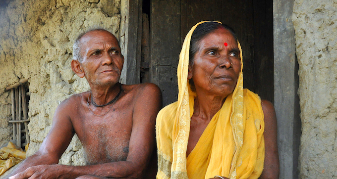 "An elderly couple, Kumed Mondal in his eighties and Madhuri Mondal in her mid-sixties, live a lonely life in a mud house in Ghoramara. Their sons have long been left in search of greener and safer pastures and daughters are married. ""The river was originally far off from our house but now it seems to be coming closer every day. Kumed Mandal says. This seems to be the story of most families in Ghoramara, with elderly, and sometimes women, have stayed back to look after the vanishing property and hoping for some compensation from the government."