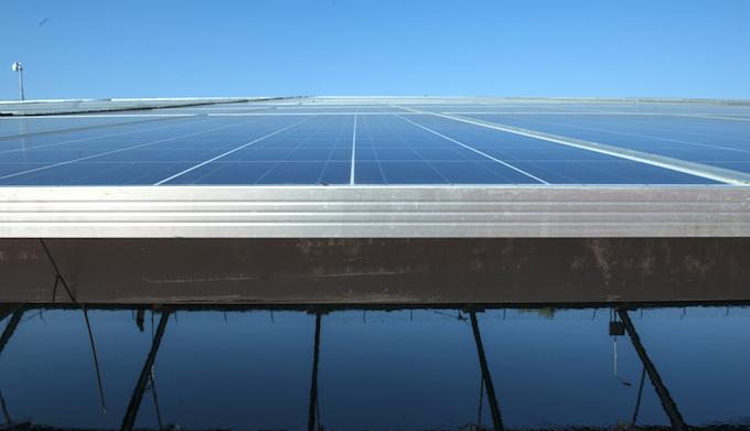 A solar power plant in Gujarat. (Photo by Mark Garten)