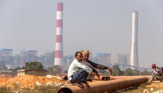 A coal-fired power plant near Singrauli in Madhya Pradesh. (Photo by Joe Athialy)