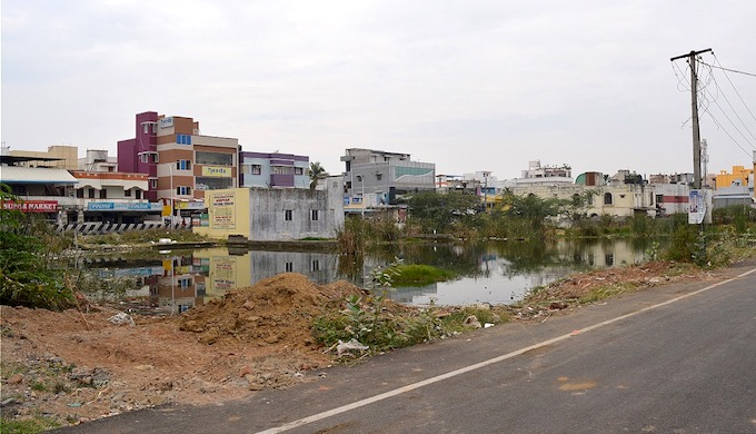 Localities like Madipakkam have houses built on low-lying areas. (Photo by S. Gopikrishna Warrier)