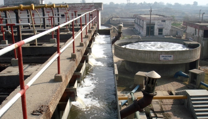 The 36 million litres daily common effluent treatment plant often performs below capacity. (Image by Juhi Chaudhary)