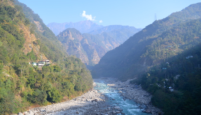 The Teesta River flowing through Sikkim. (Photo by Athar Parvaiz)