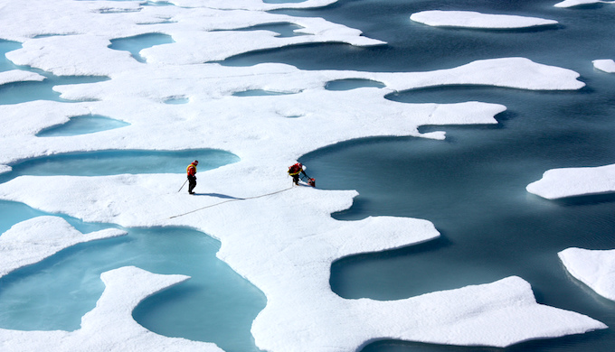The Arctic Sea ice is thinning due to climate change. (Photo by NASA/Kathryn Hansen)