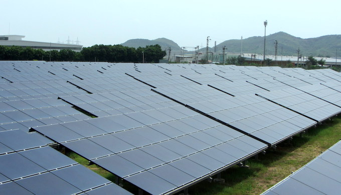 The Neemrana solar park will supply electricity to industrial units and the power grid. (Photo by Nivedita Khandekar)
