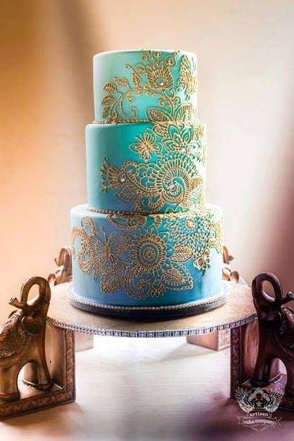 Mehndi Indian Wedding Cake