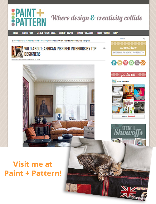 African Trend Inspiration at Paint+Pattern Online Magazine