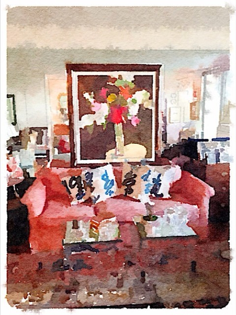 From @lynneradams Instagram Interior Photo Using Waterlogue App
