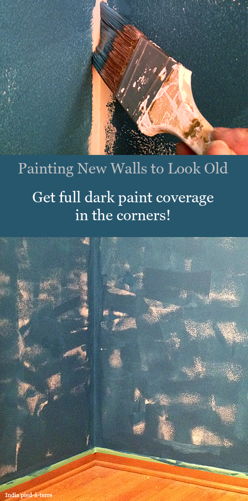 Making New Walls Look Old - Get Paint in the Corners