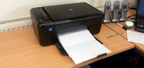 Medium Of Printer Printing Blank Pages