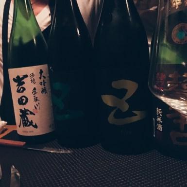 Sake degustation in Tokyo