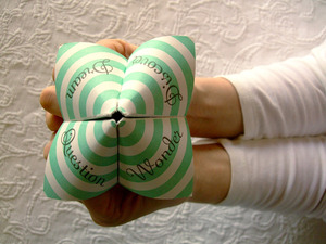 cootie catcher fortune teller tutorial how to letterpress
