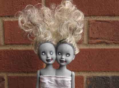 Halloween Zombie Siamese Twin Doll
