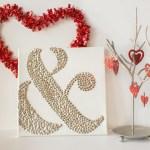 Ampersand Valentines Wall Art
