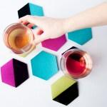 DIY Modern Felt Hexi Coasters