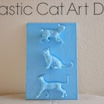 Plastic Cat Art DIY