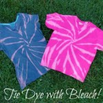 DIY Tie Dye Shirts with Bleach
