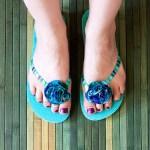 DIY: Flower Flip Flops