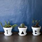 DIY Triangle Plant Pots