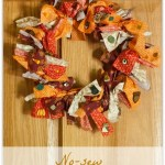 DIY no-sew fabric wreath