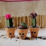 Dia De Los Muertos Cactus Pots DIY
