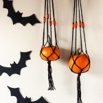 DIY: Mini Pumpkin Macrame Hanger