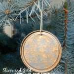 Silver and Gold Juice Lid Ornaments DIY