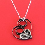 DIY Quilled Heart Necklace Tutorial