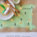 DIY Gold Foil Placemats